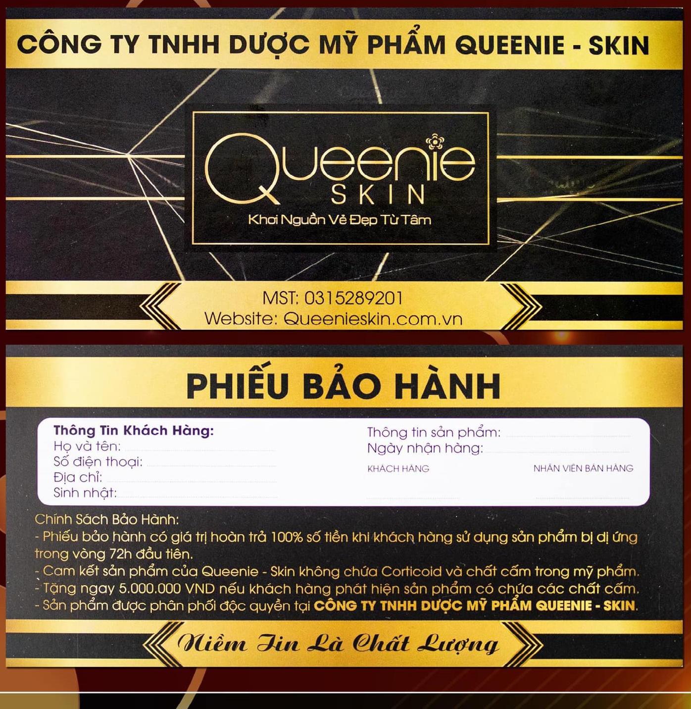 mỹ phẩm queenie skin